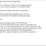 PostfixでGmailだけへメールを送れない